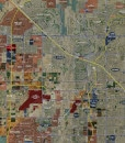 """2017 Phoenix Wall Map Mural – Expanded Print Scale (96""""x87"""")"""