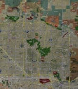 """2017 Phoenix Rolled Aerial Map – Classic Print Scale (48""""x30"""")"""