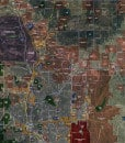 """2016 Colorado Springs Rolled Aerial Map – Poster Print Scale (24""""x27"""")"""