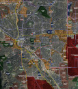 """2016 Colorado Springs Rolled Aerial Map – Professional Print Scale (42.5""""x48"""")"""