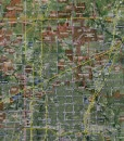 "2015 Dallas/Fort Worth Wall Map Mural – Standard Mini Print Scale (58""x48"")"