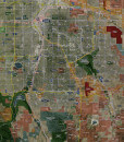 "2016 Denver Rolled Aerial Map – Classic Print Scale (22""x34"")"