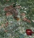 """2018 Houston Wall Map Mural – Standard Mini Print Scale (52""""x48"""")"""