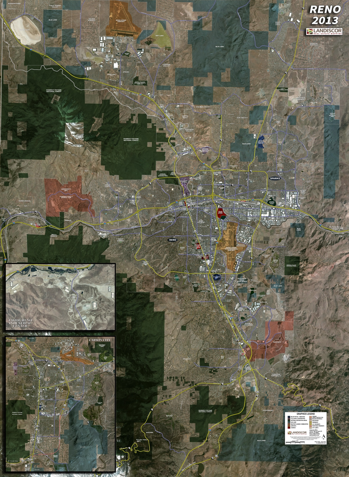 Reno – Rolled Aerial Map | Landiscor Real Estate Mapping