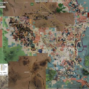 Rolled Aerial Map - Pinal County