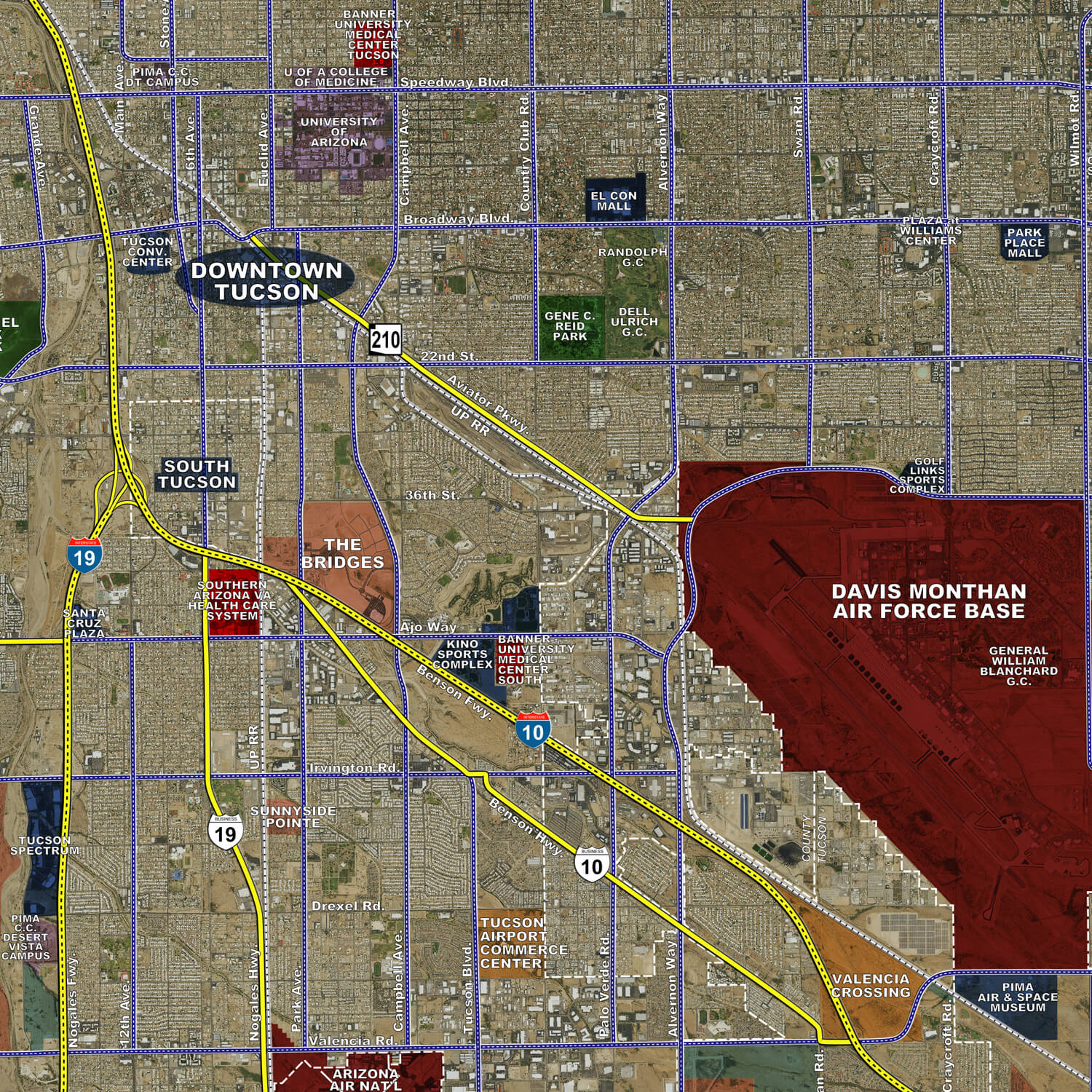 Tucson Aerial Wall Mural Landiscor Real Estate Mapping