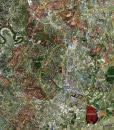 """2017 Austin Rolled Aerial Map – Classic Print Scale (32""""x41"""")"""