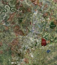 """2017 Austin Rolled Aerial Map – Poster Print Scale (27.5""""x35"""")"""