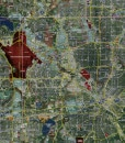 """2015 Dallas/Fort Worth Rolled Aerial Map – Professional Print Scale (60""""x48"""")"""