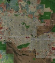 """2017 Phoenix Rolled Aerial Map – Poster Print Scale (30""""x27.5"""")"""