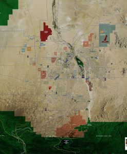 Rolled Aerial Map - Victor Valley