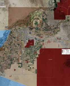 Wall Map Mural - Yuma