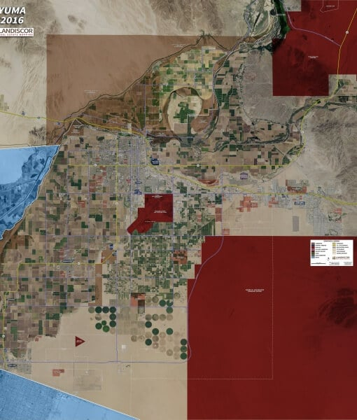 Wall Map Mural – Yuma