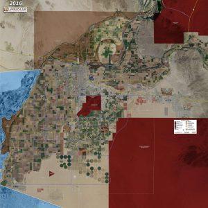 Rolled Aerial Map - Yuma