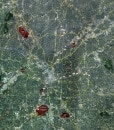 """2016 Atlanta Rolled Aerial Map – Classic Print Scale (32""""x39"""")"""