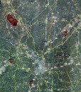"""2016 Atlanta Rolled Aerial Map – Professional Print Scale (48""""x58.5"""")"""