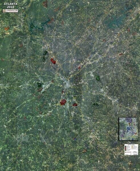 Wall Map Mural – Atlanta