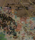 """2014 Pinal County Rolled Aerial Map – Classic Print Scale (38""""x32"""")"""