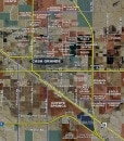 """2014 Pinal County Wall Map Mural – Standard Print Scale (96""""x81"""")"""
