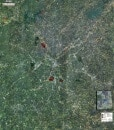 Rolled Aerial Map - Atlanta