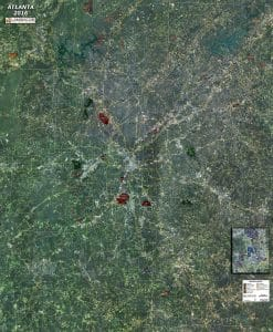 Rolled Aerial Map - Atlanta