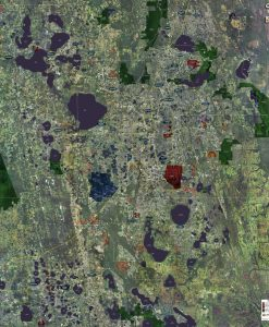 Rolled Aerial Map - Orlando