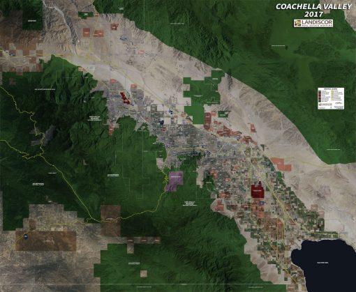 Wall Map Mural – Coachella Valley