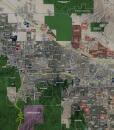 "2017 Coachella Valley Wall Map Mural – Standard Mini Print Scale (58""x48"")"