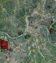"""2017 Cincinnati Rolled Aerial Map – Classic Print Scale (36""""W X 32""""H)"""