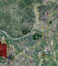 "2017 Cincinnati Rolled Aerial Map – Professional Print Scale (54""W X 48""H)"