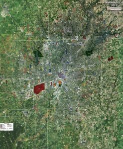 Rolled Aerial Map - Indianapolis
