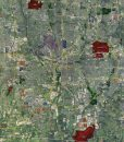 "2018 Columbus Rolled Aerial Map – Poster Print Scale (27.5""W X 30""H)"