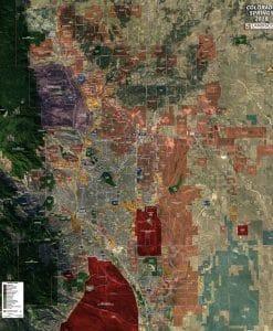Wall Map Mural - Colorado Springs