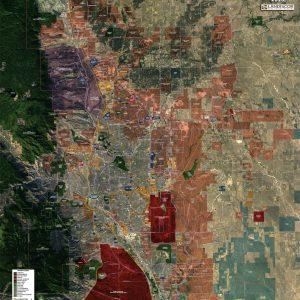 Rolled Aerial Map - Colorado Springs