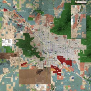 Rolled Aerial Map - Tucson