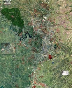Rolled Aerial Map - Austin Standard