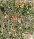 Rolled Aerial Map - Northern Front Range