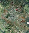Wall Map Mural - Houston Standard