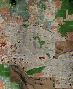Aerial Wall Map Mural - Phoenix Standard