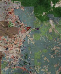 Aerial Wall Map Mural - Pinal County